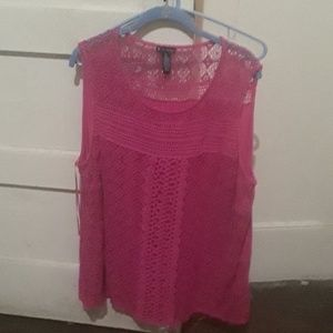 New direction lacey sleeveless top